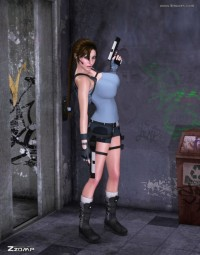 Free porn pics of Lara playing with monster 1 of 17 pics